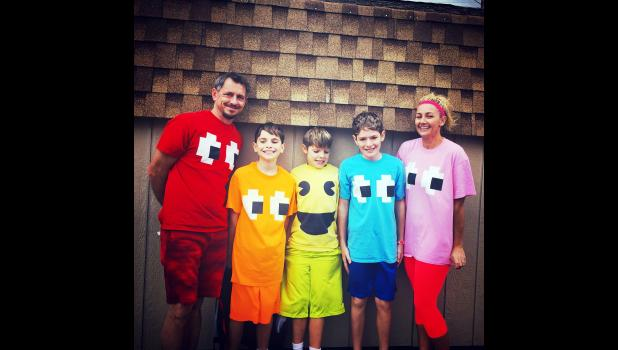 The Craig and Heidi Burns family won the best group costumes.