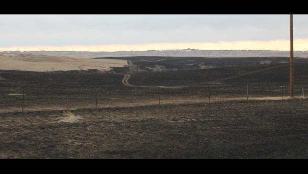 ​The Wolf Fire destroyed over 2,500 acres east of Wall.