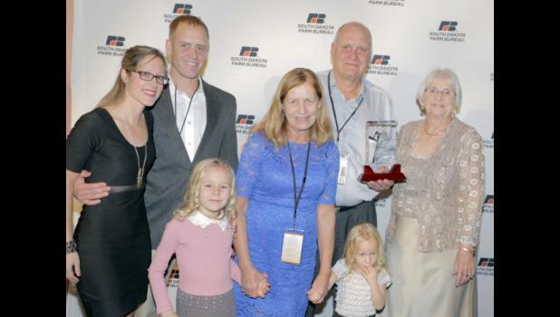 Richard Kjerstad Friend of YF&R award winners – the Paul and Carol Shubeck family, with Patricia Kjerstad.